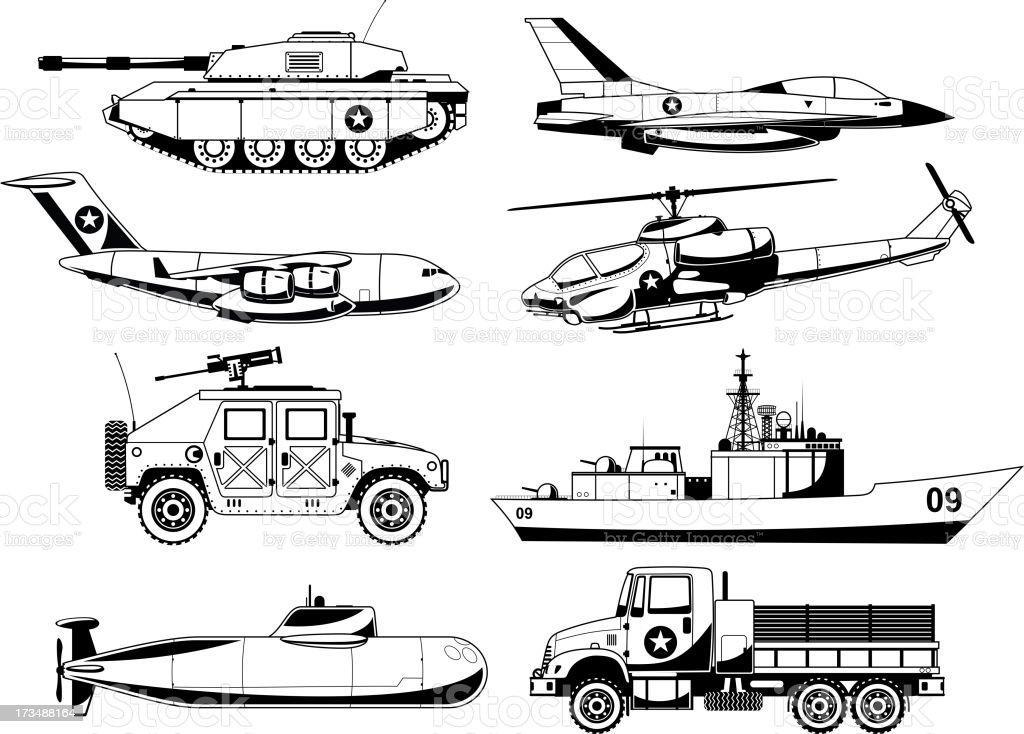 War Military Vehicles 2 royalty-free stock vector art