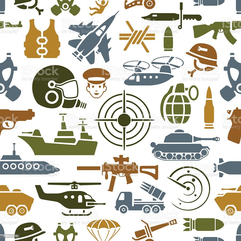 War Pattern vector art illustration