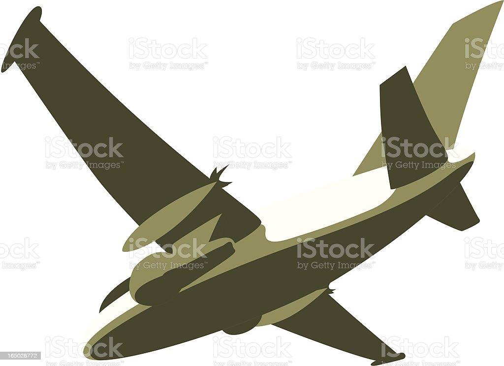 War Plane royalty-free stock vector art