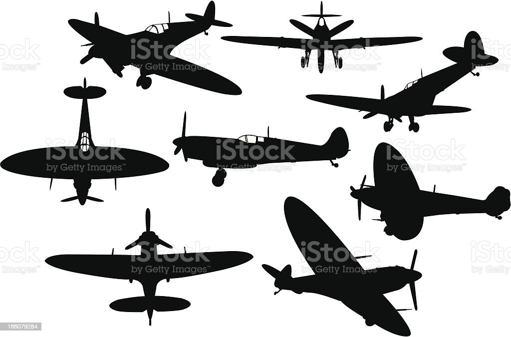 War Plane vector art illustration