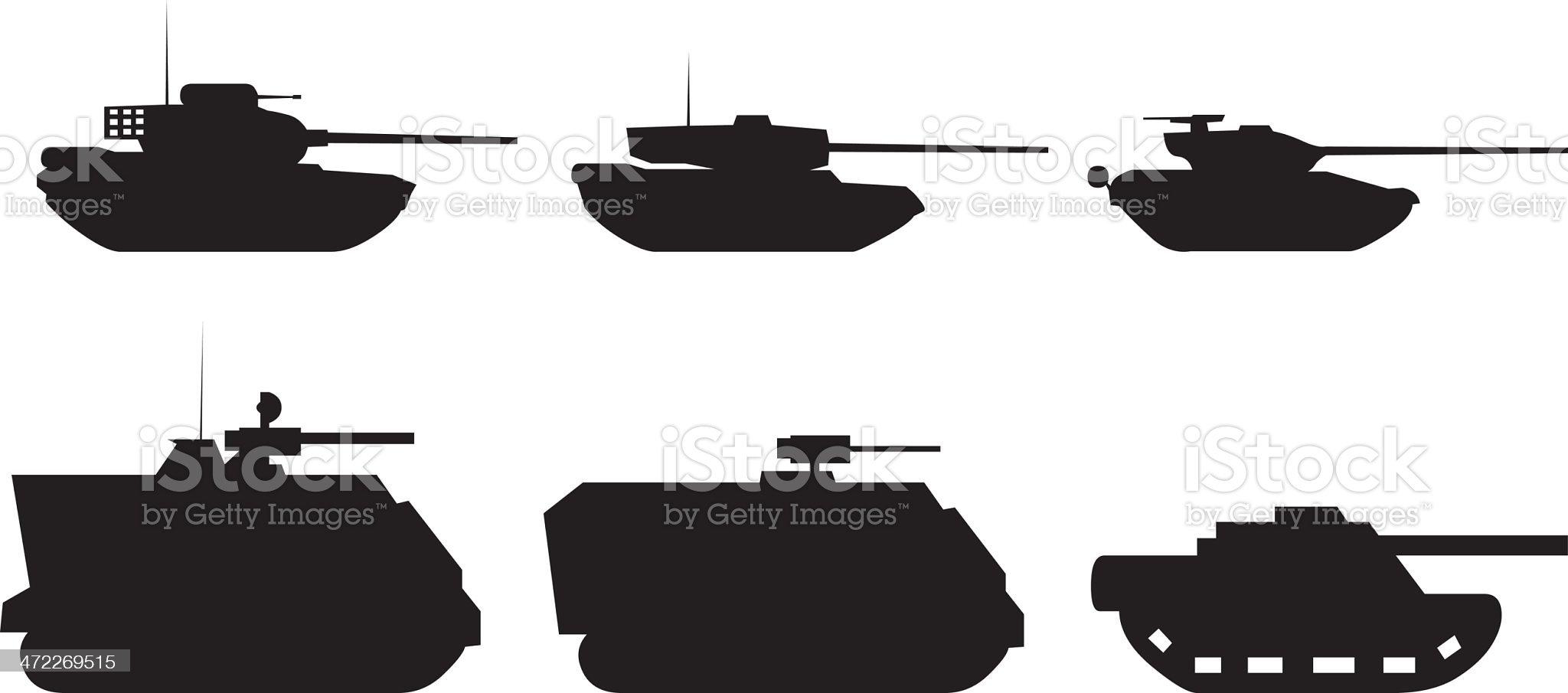 War Tanks (Vector) royalty-free stock vector art