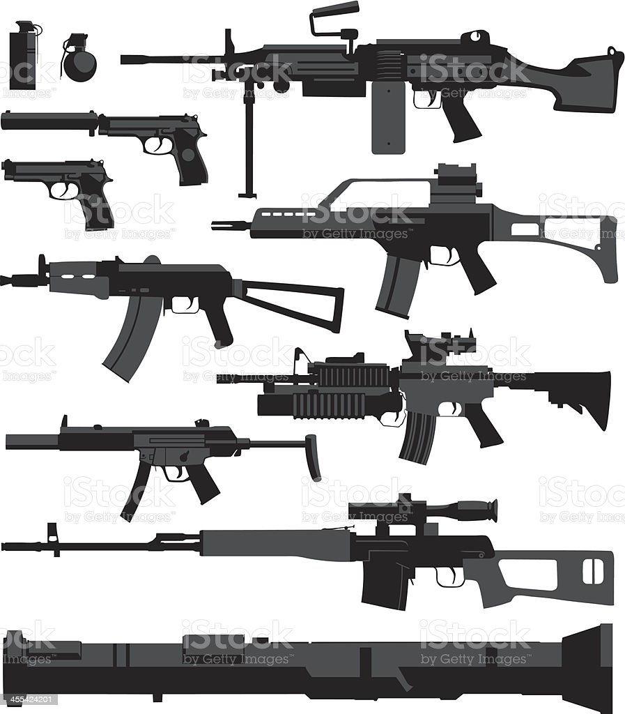 War Weapons vector art illustration