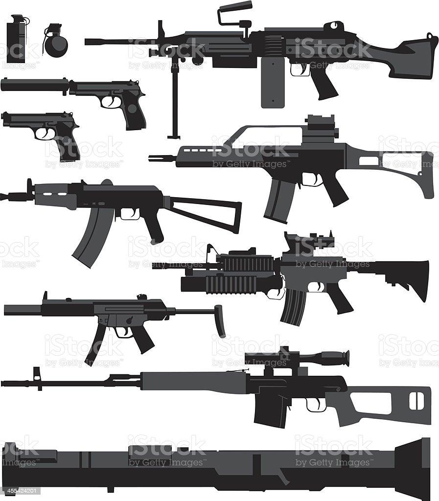 War Weapons vector art illustration