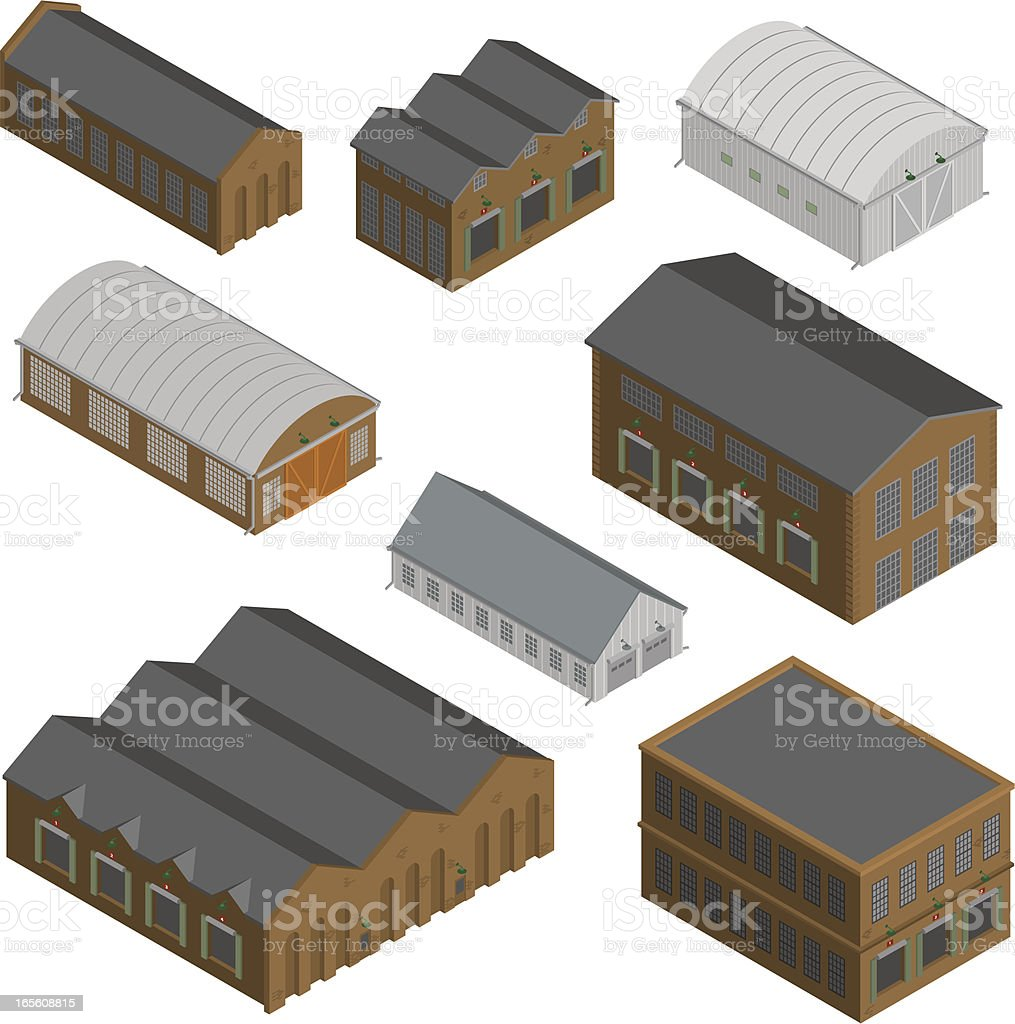 Warehouse Buildings royalty-free stock vector art