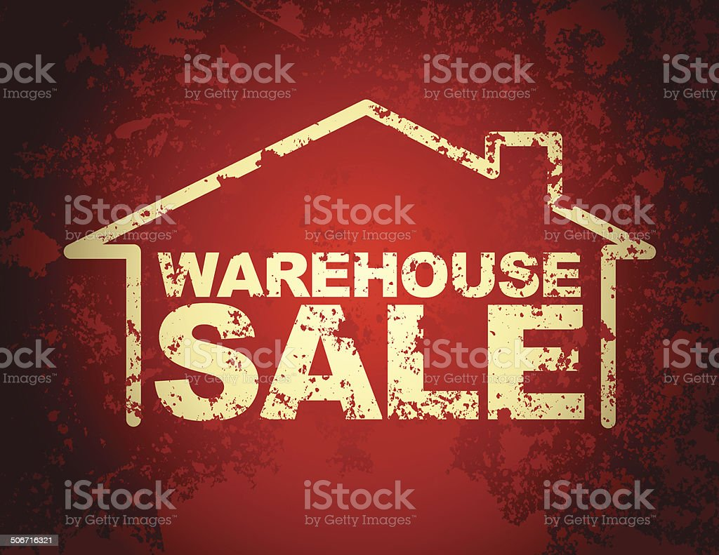 Warehouse SALE vector art illustration