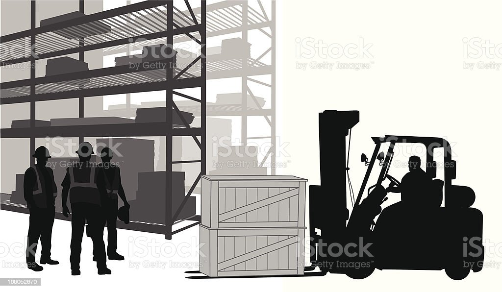 Warehouse Workers vector art illustration