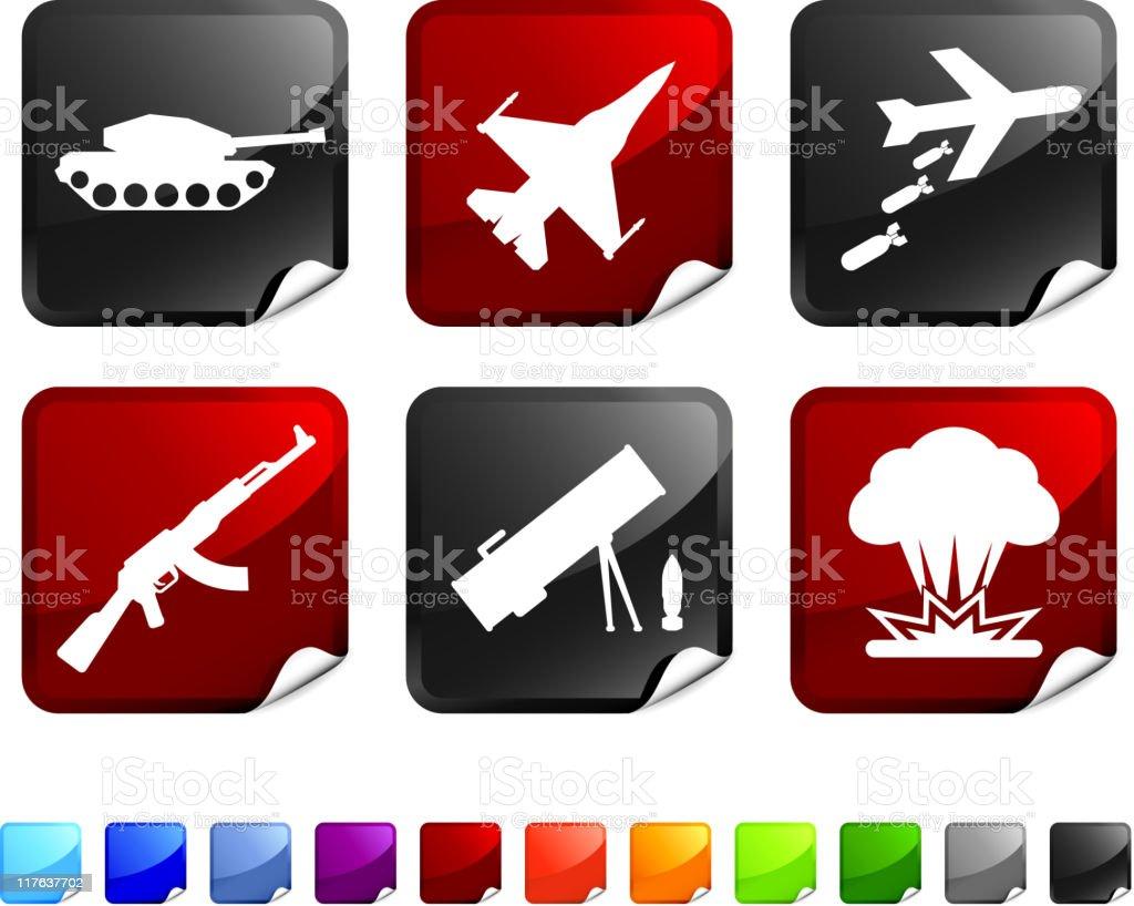 warfare royalty free vector icon set stickers royalty-free stock vector art