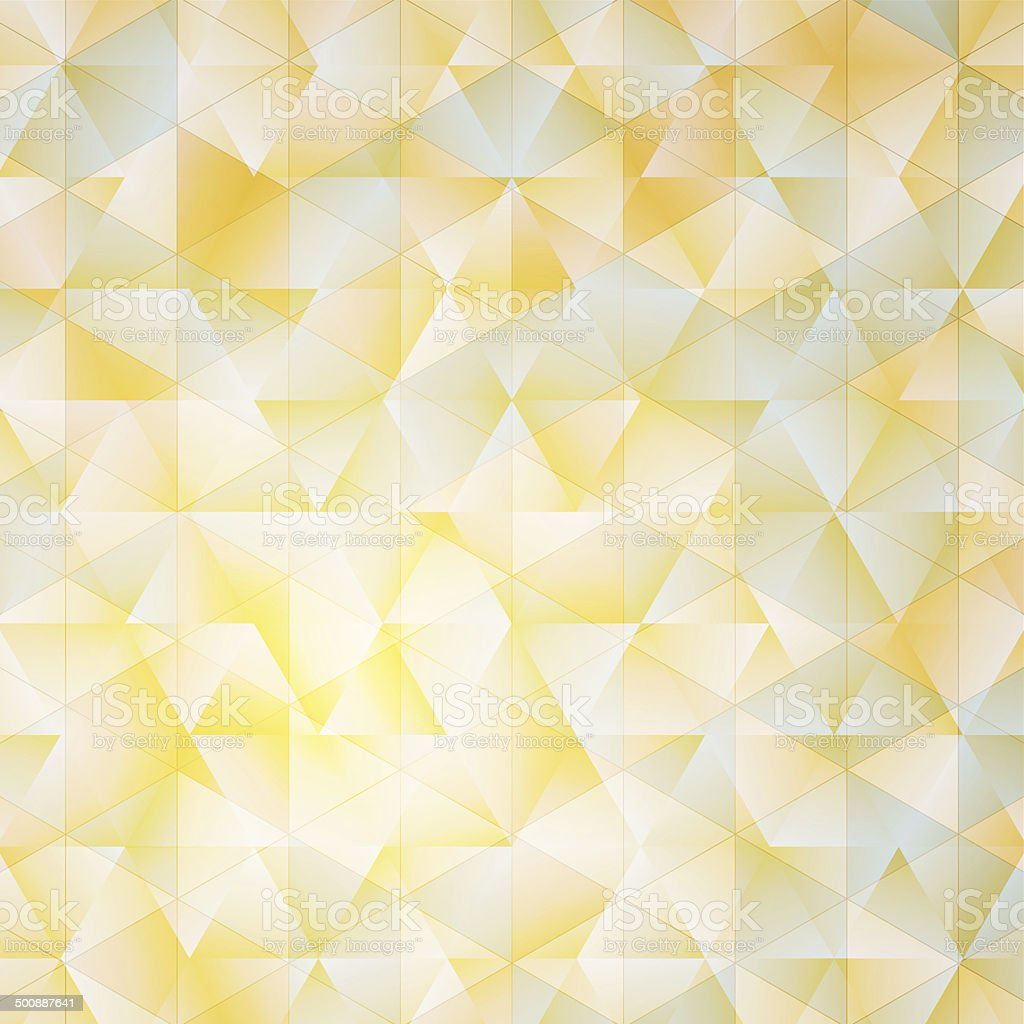 Warm abstract triangular background with filter effect vector art illustration