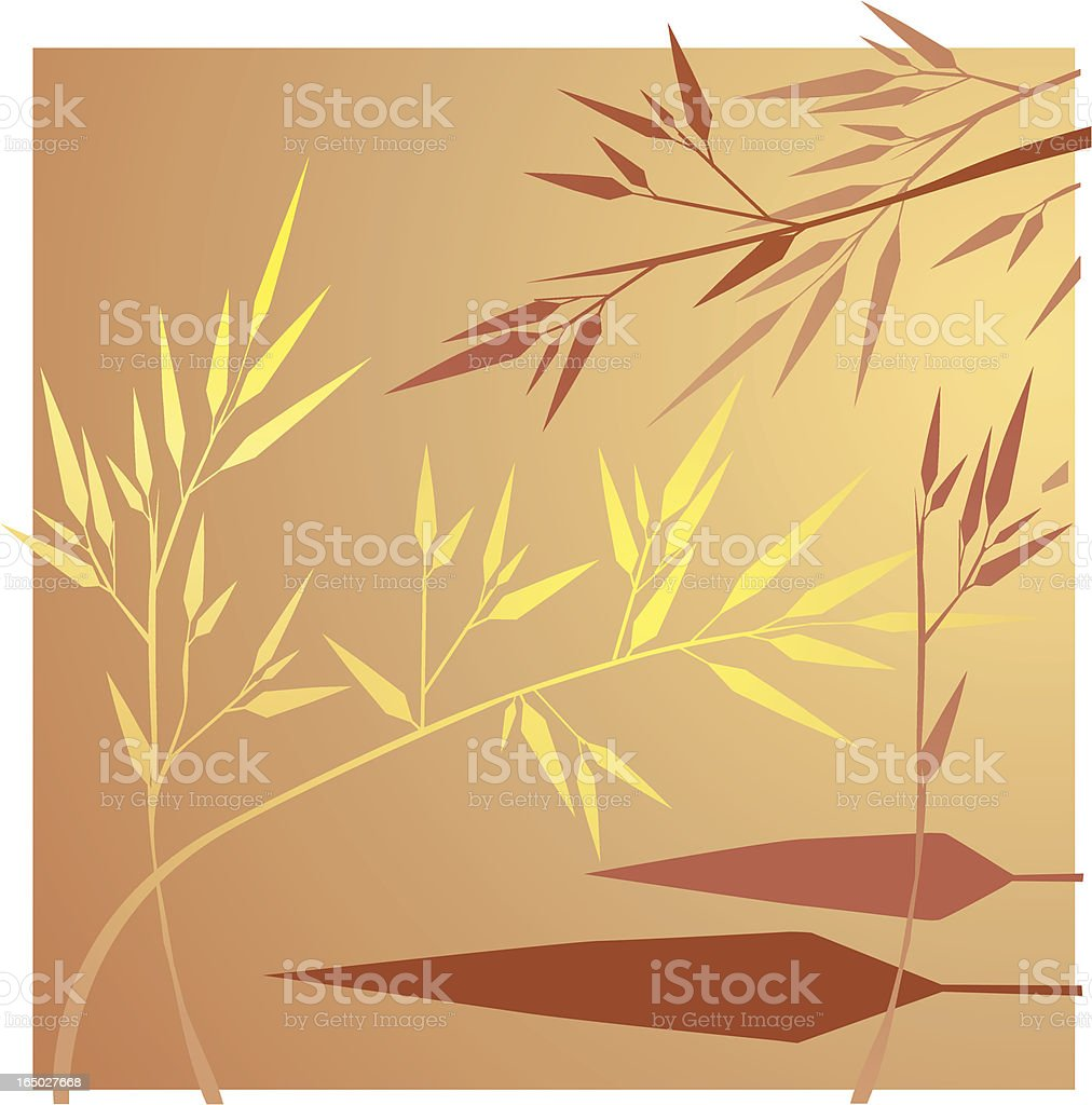 Warm Bamboo design royalty-free stock vector art