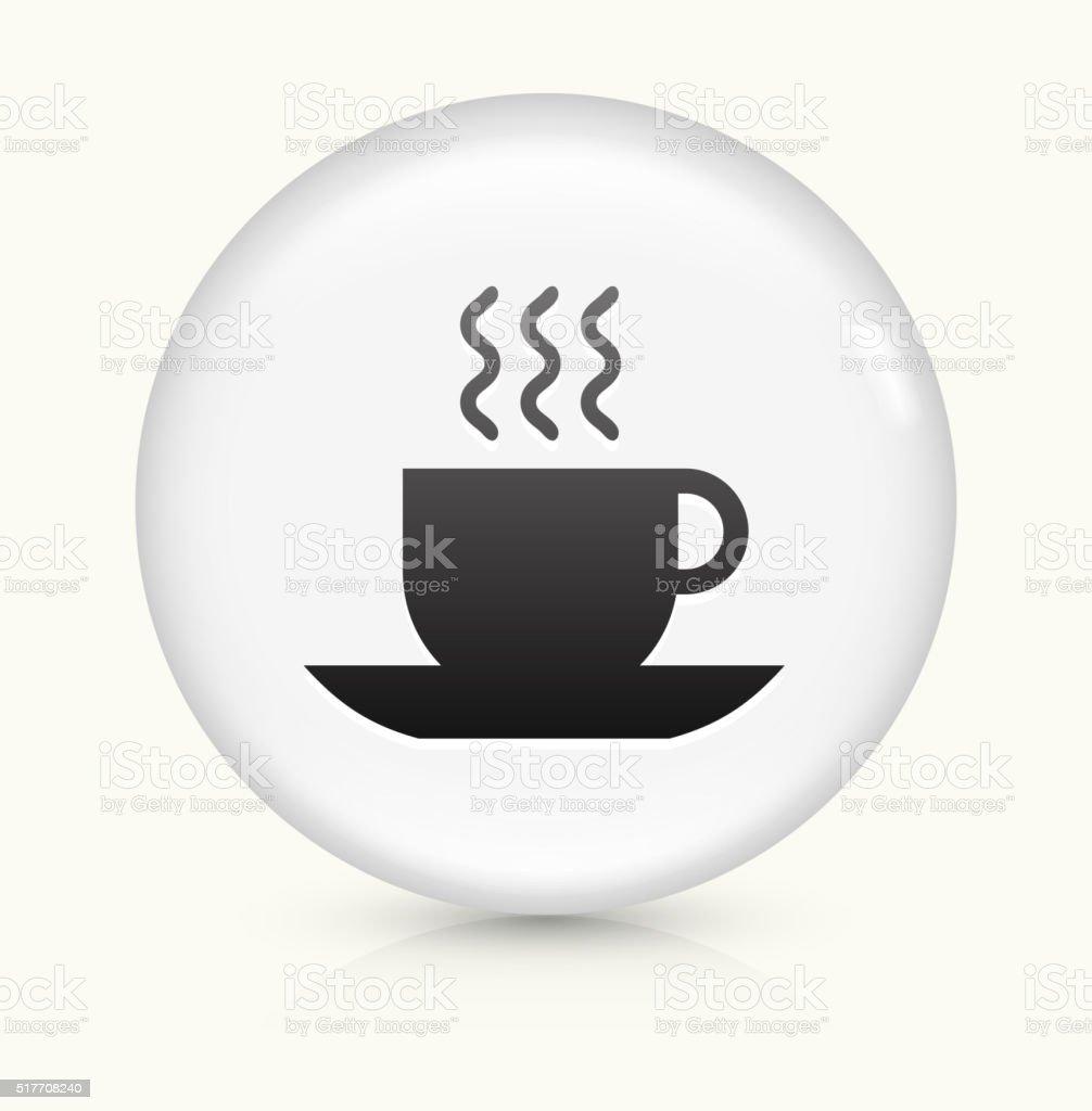 Warm Beverage icon on white round vector button vector art illustration