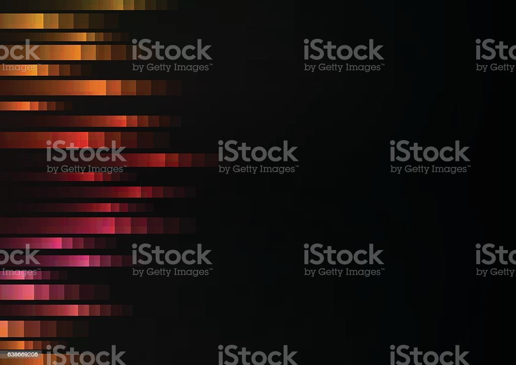 warm color of abstract pixel speed racer from side background vector art illustration
