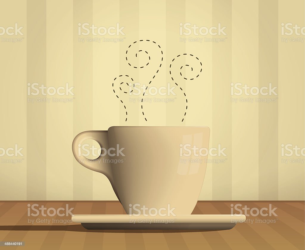 Warm Cup vector art illustration