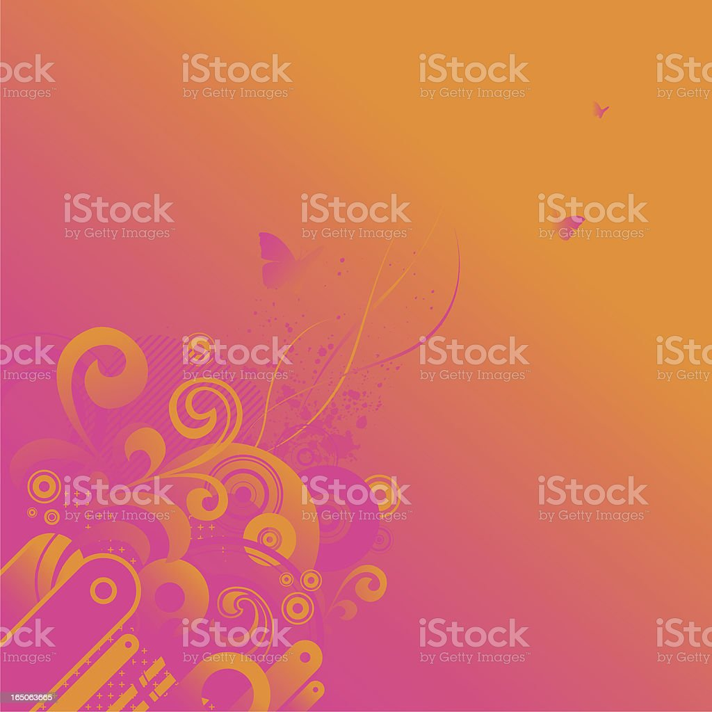 warm fade royalty-free stock vector art