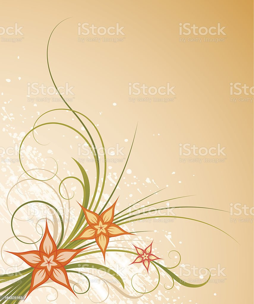 Warm floral design royalty-free stock vector art