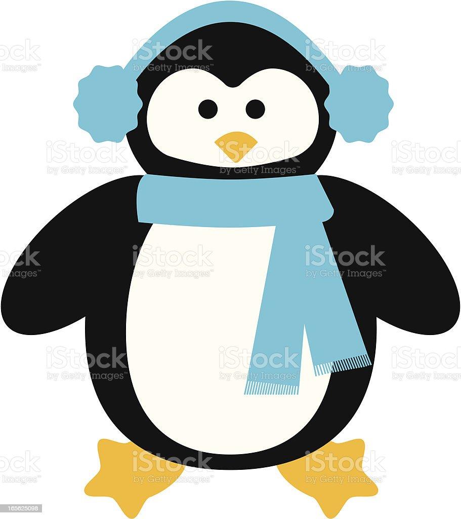 Warm Penguin vector art illustration