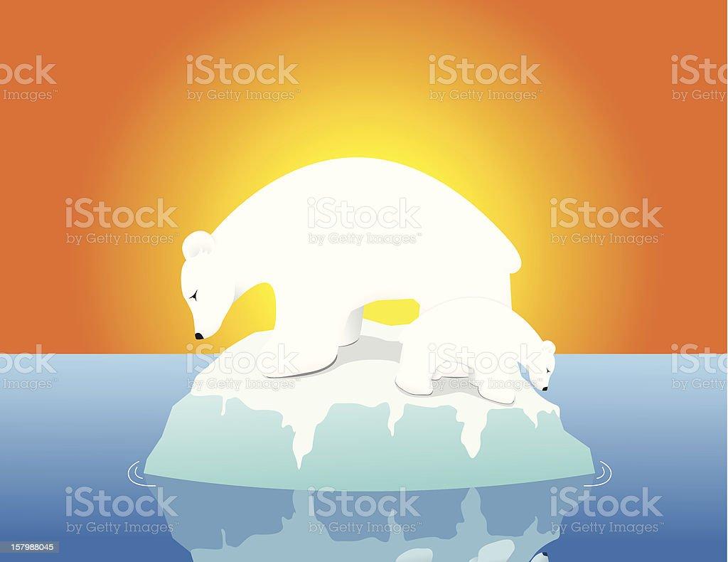 Warm Polar Bears royalty-free stock vector art