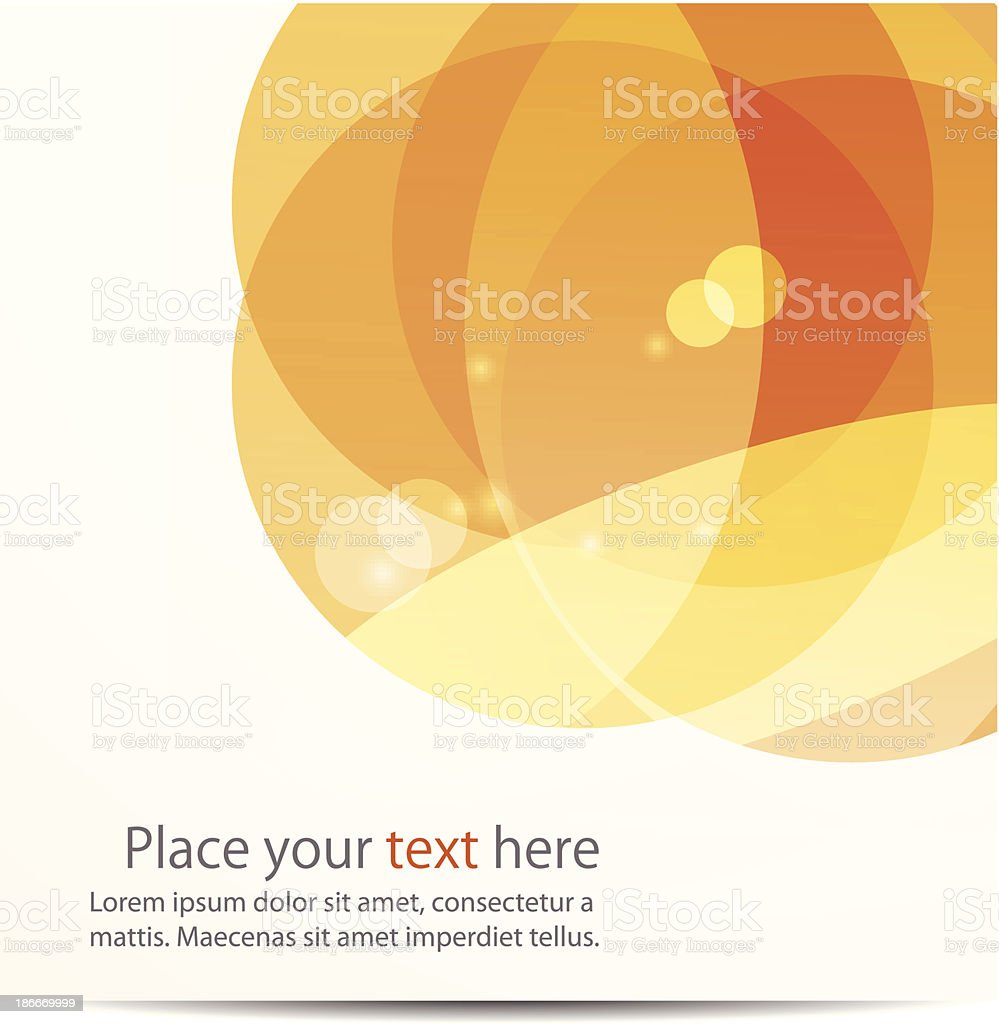 Warm toned abstract background vector art illustration