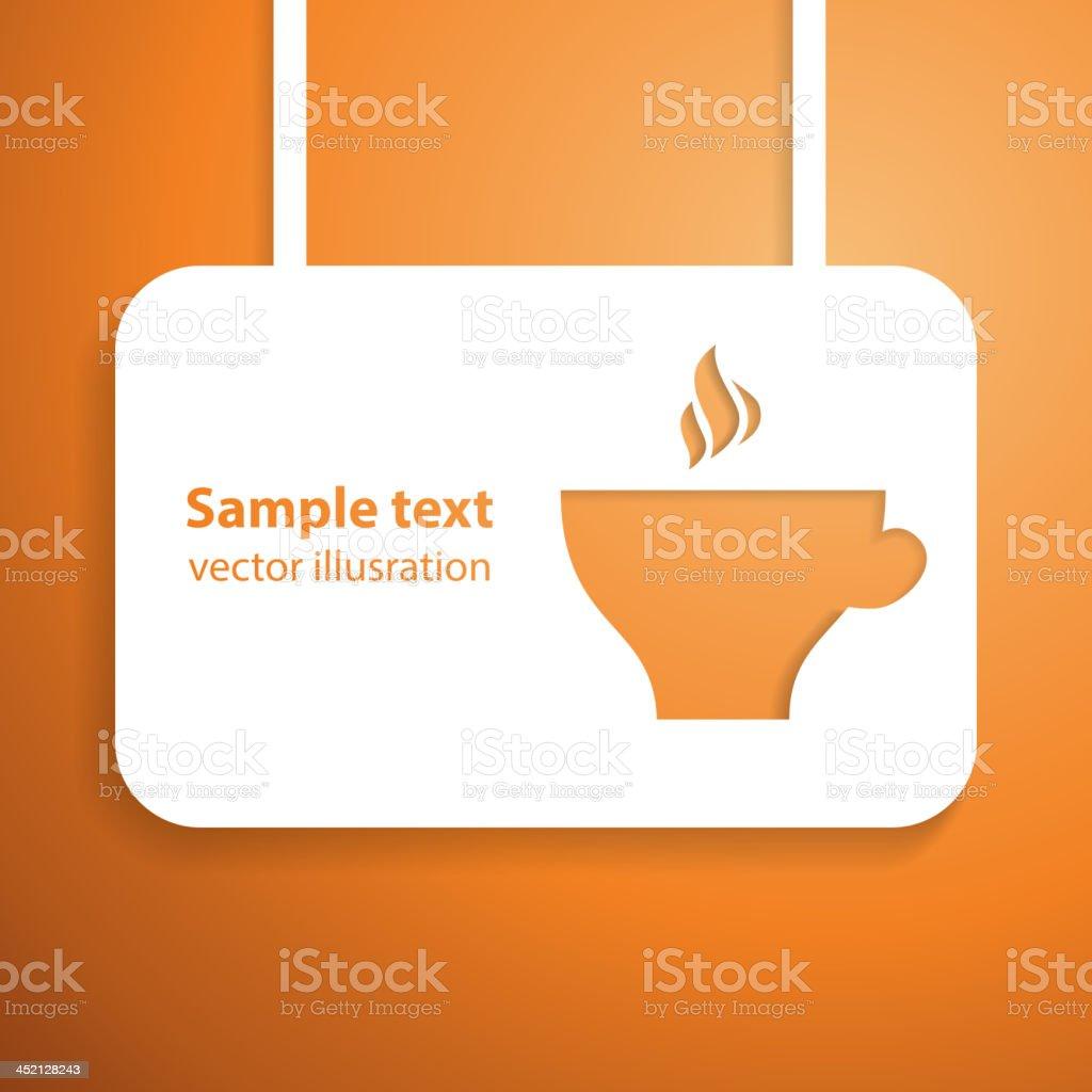 Warming applique background. Vector illustration. royalty-free stock vector art