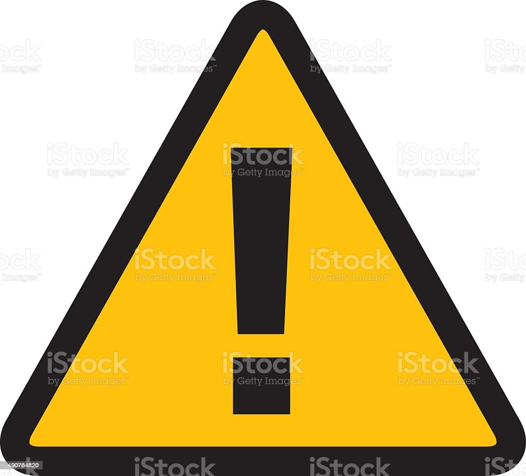 warning alert sign Vector vector art illustration