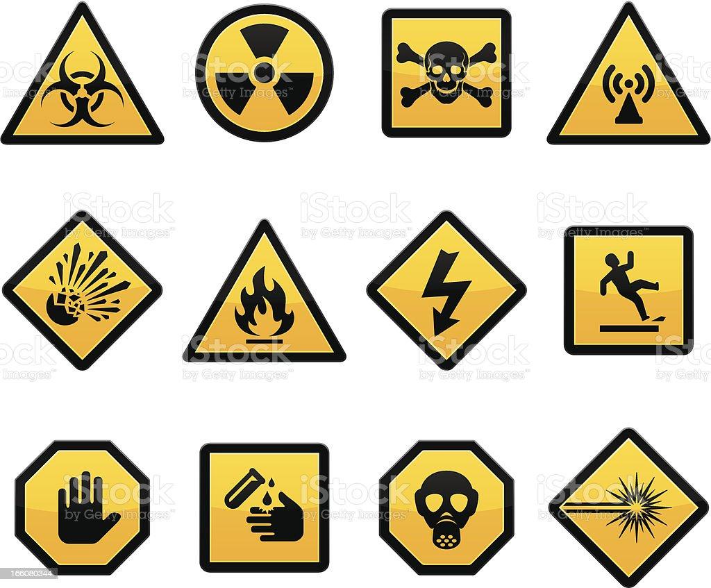 Warning and Hazard royalty-free stock vector art