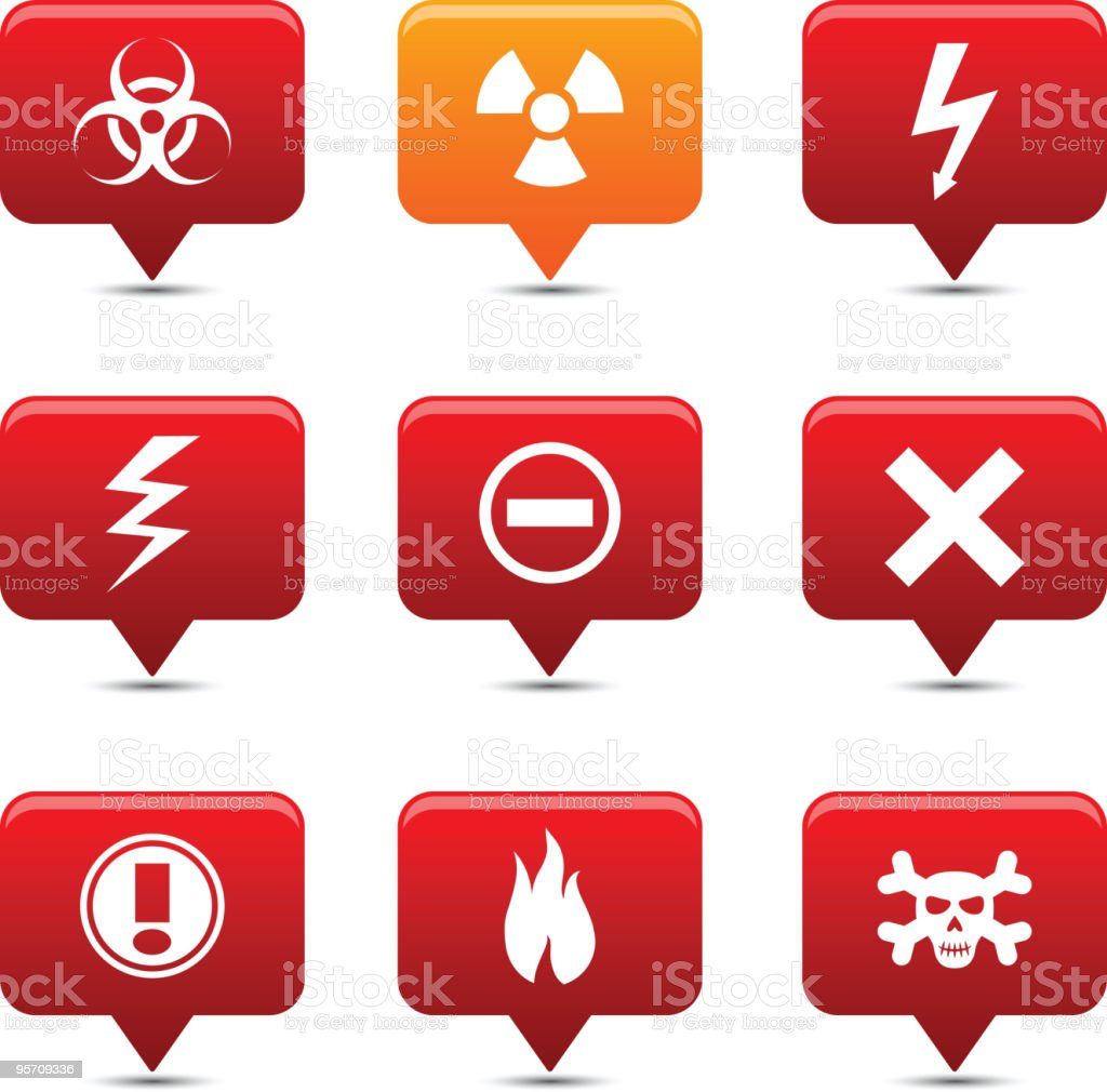 Warning  buttons. royalty-free stock vector art