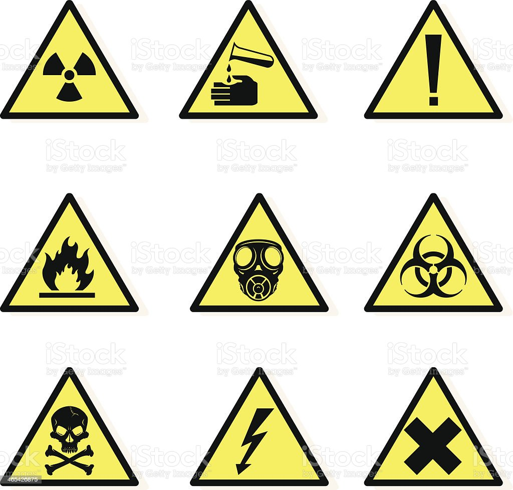 Warning Hazard Icons royalty-free stock vector art