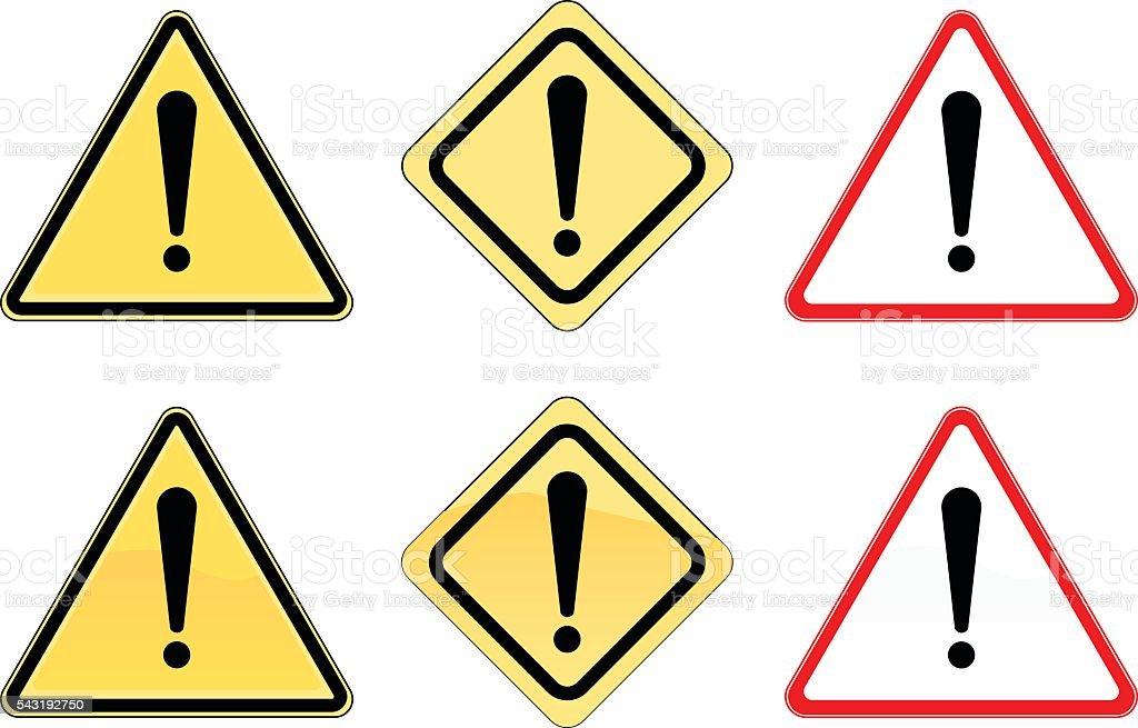 Warning Icon vector art illustration