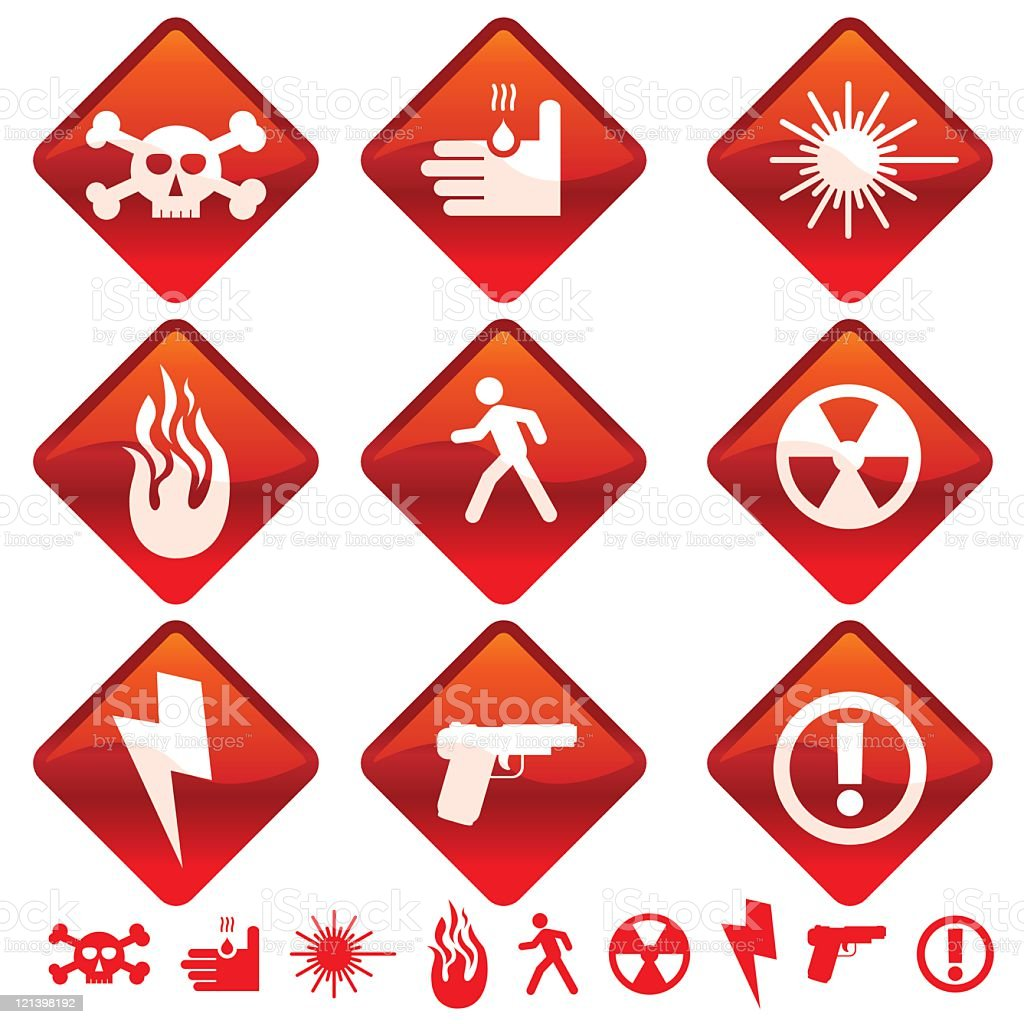 Warning Icons royalty-free stock vector art