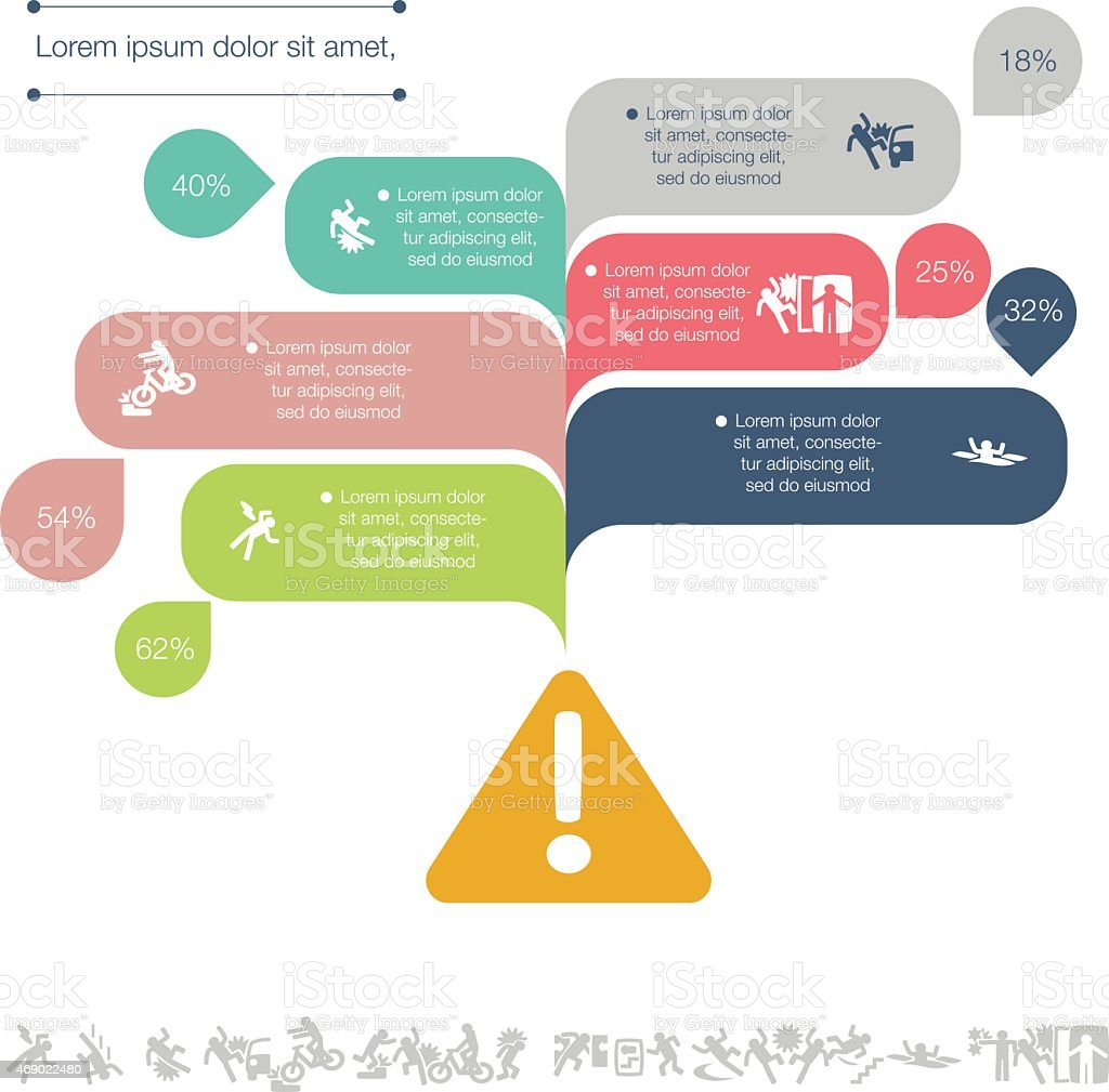Warning Infographic vector art illustration