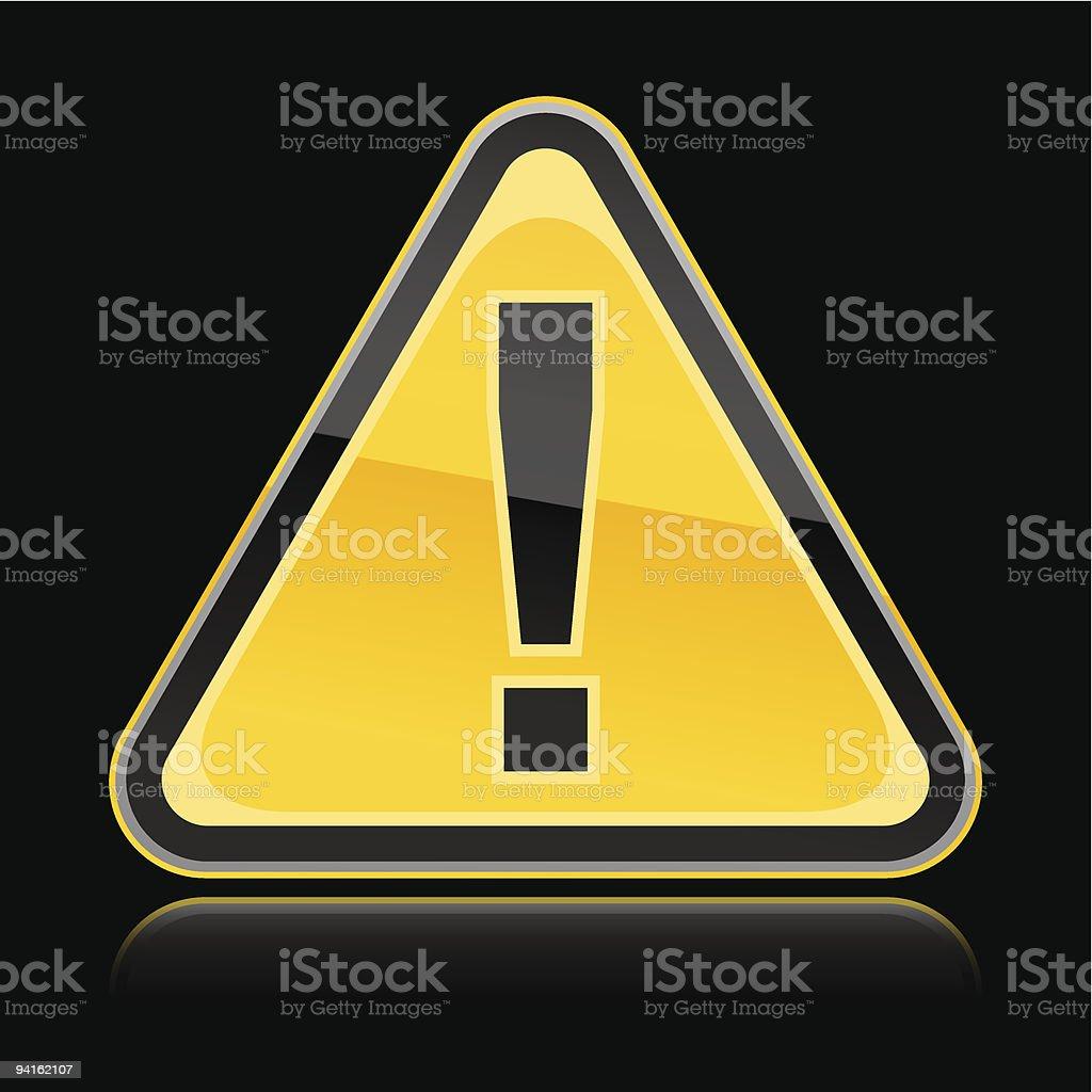Warning sign. 1 credit royalty-free stock vector art