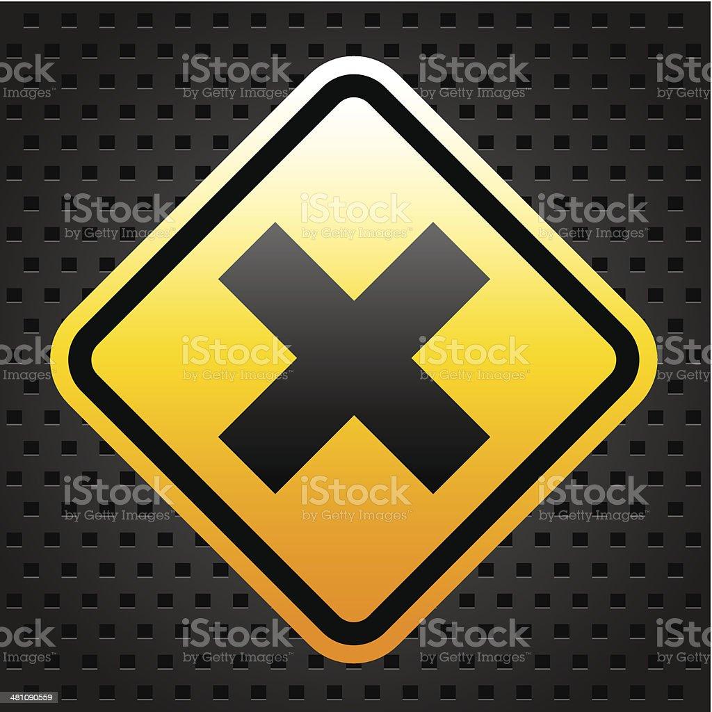 Warning sign 2 royalty-free stock vector art