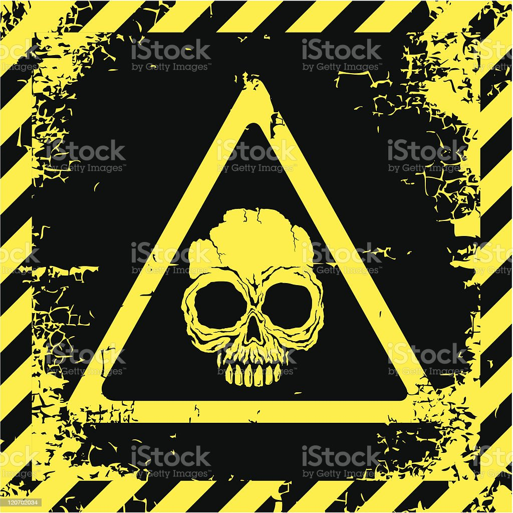 Warning sign of danger royalty-free stock vector art