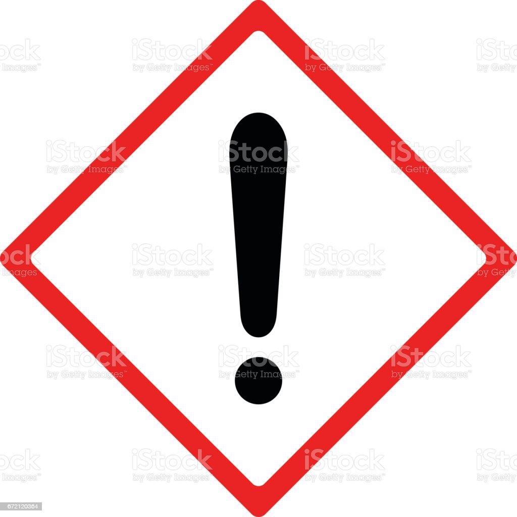 Warning sign vector design vector art illustration