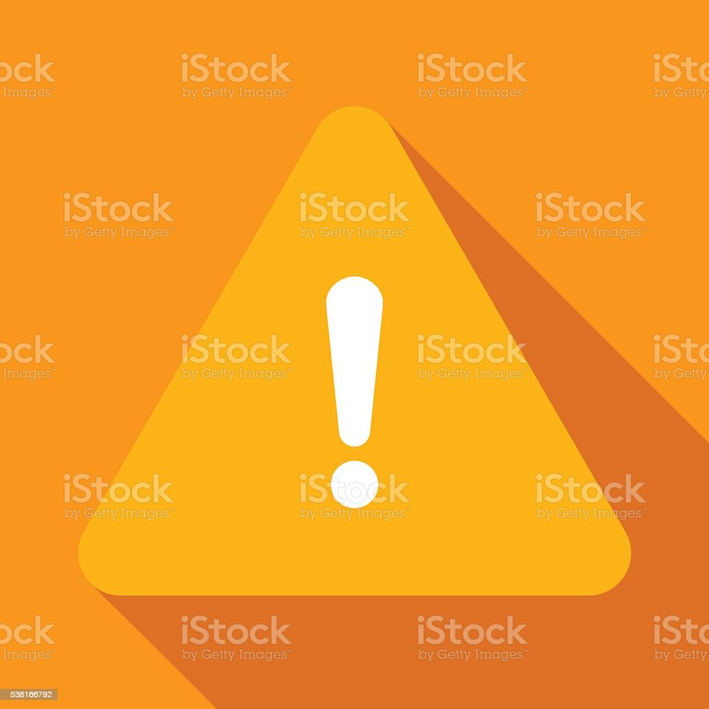 Warning sign vector art illustration