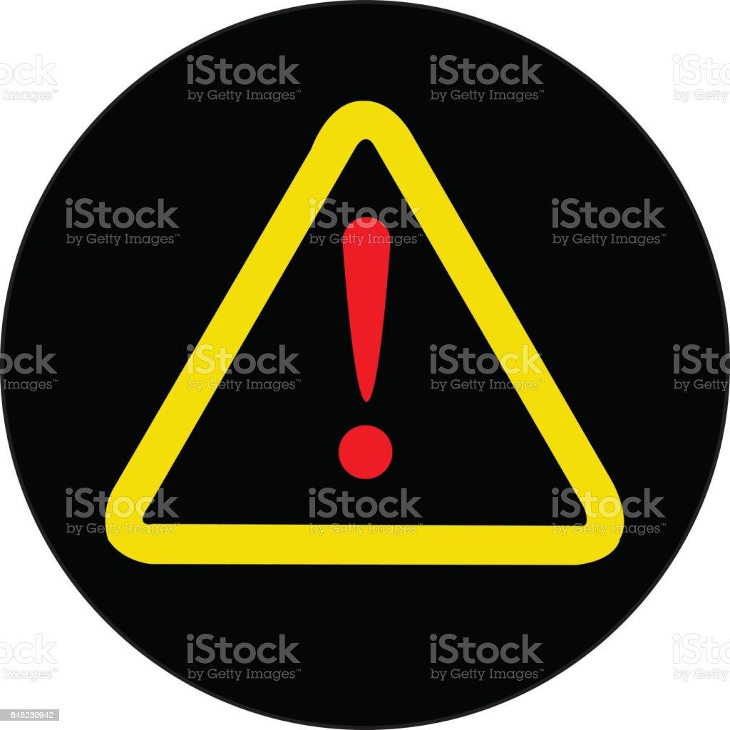 Warning sign vector art illustration
