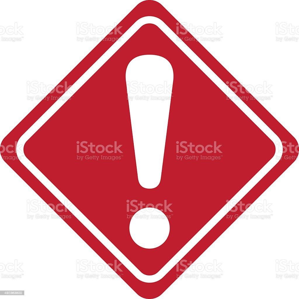 warning sign Vector vector art illustration