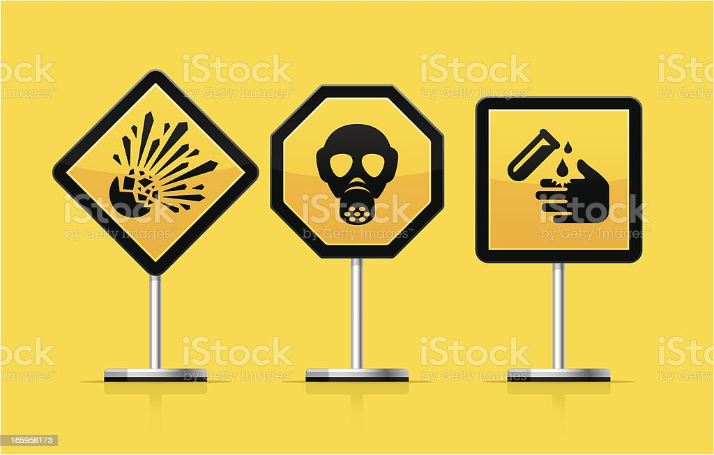 Warning Signs royalty-free stock vector art