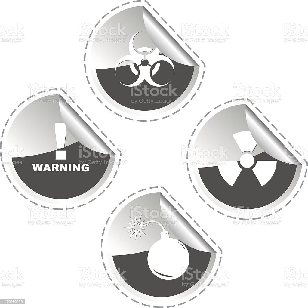 Warning signs. royalty-free stock vector art