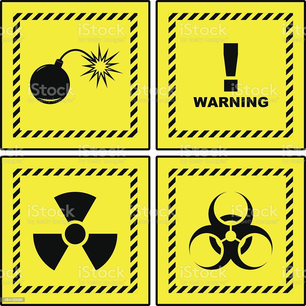 Warning signs. royalty-free stock vector art