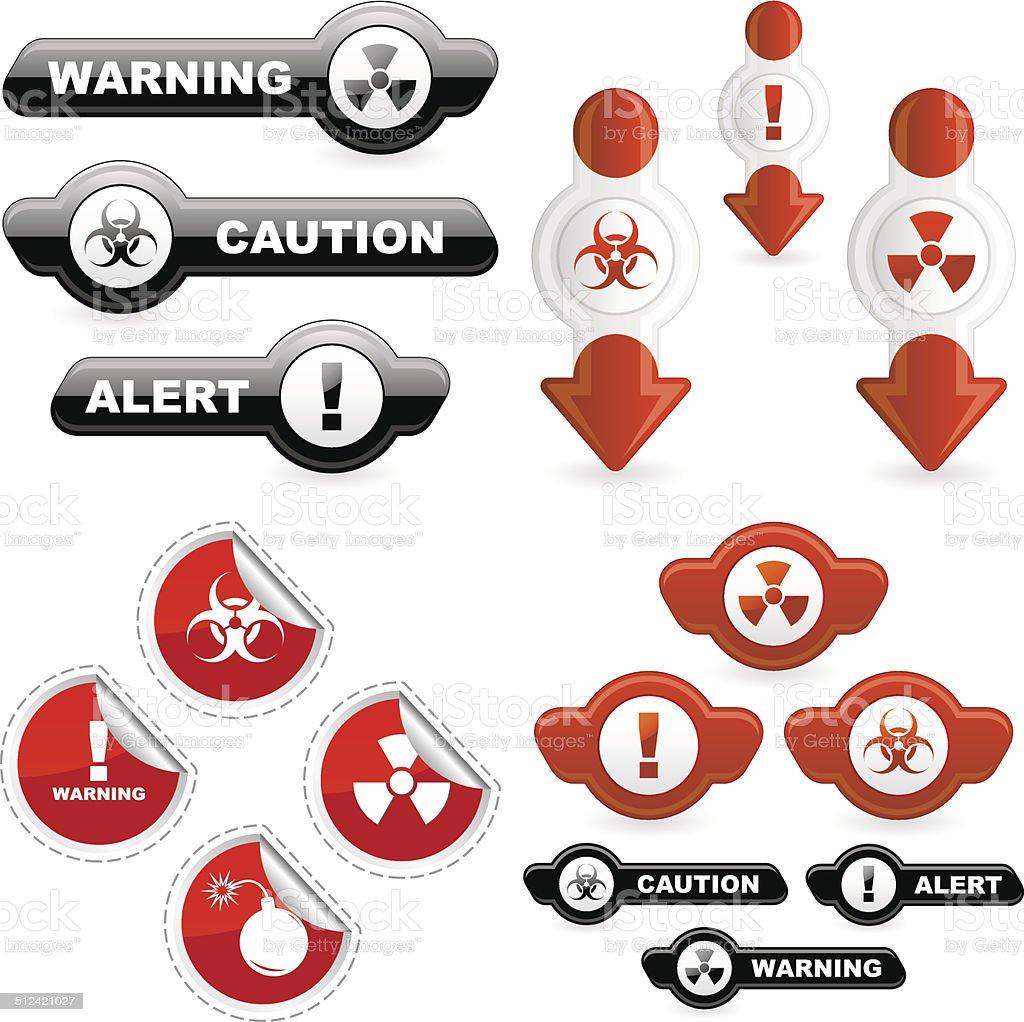 Warning signs. vector art illustration