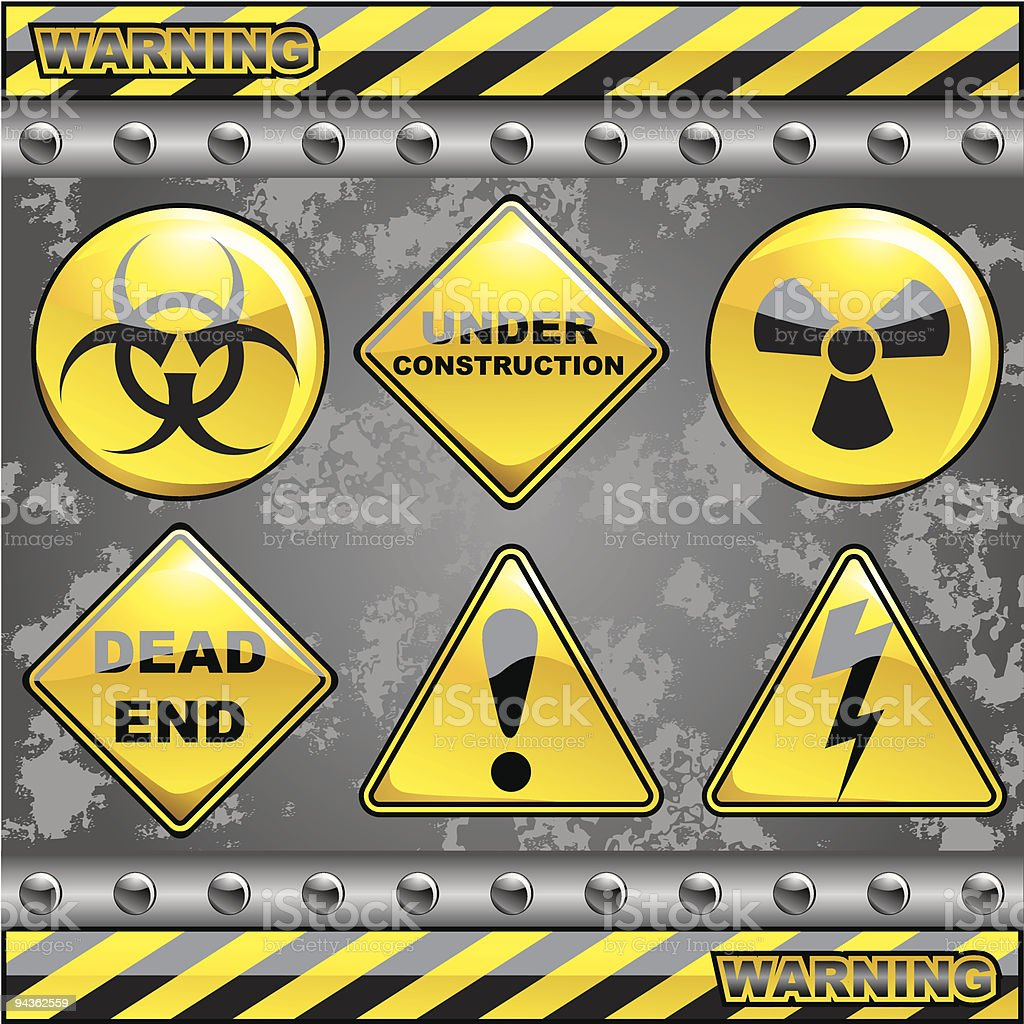 Warning Signs royalty-free stock vector art