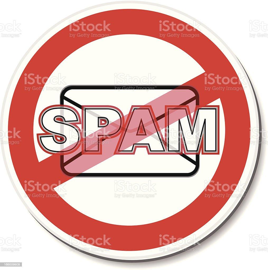 Warning Sticker | No Spam vector art illustration