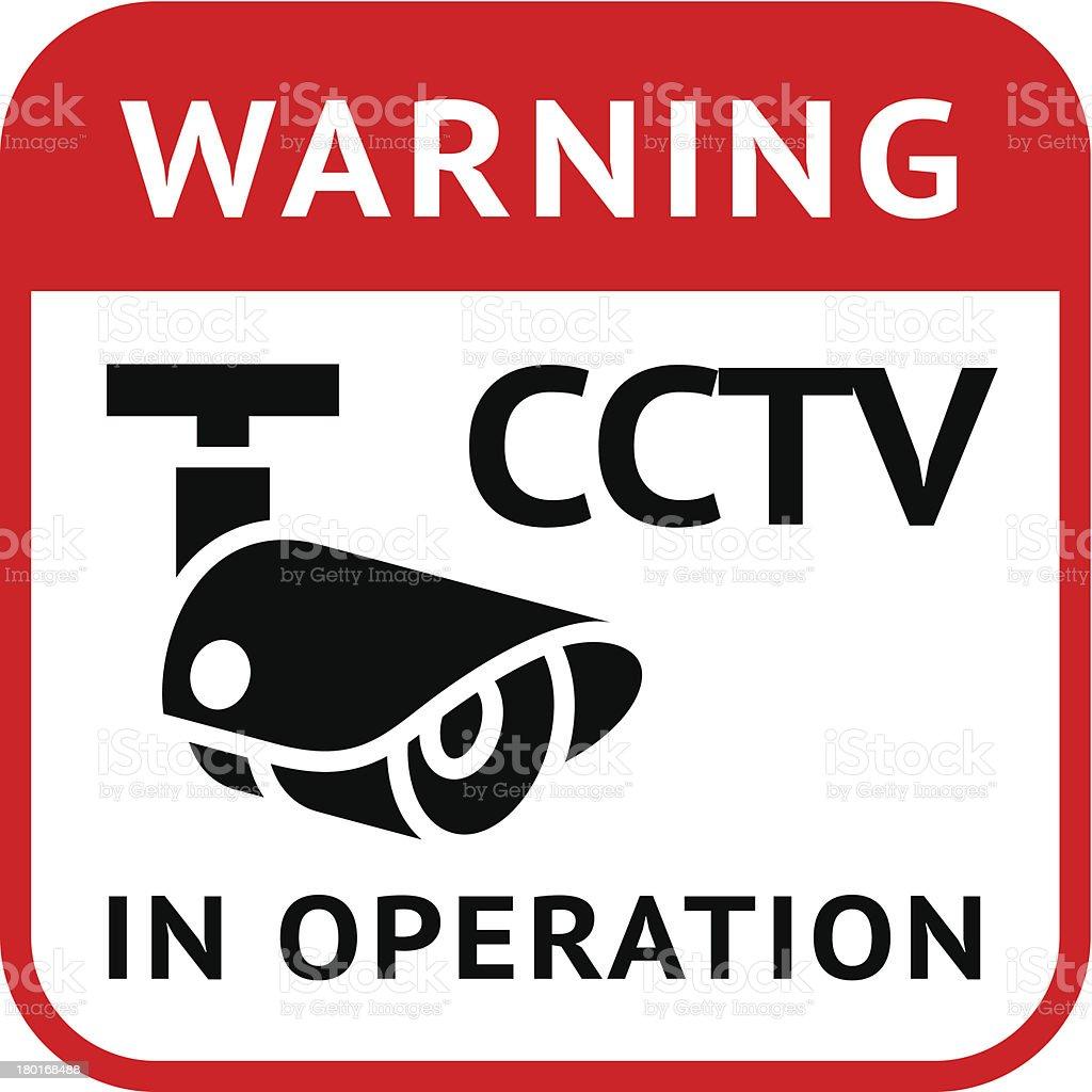 CCTV warning symbol royalty-free stock vector art