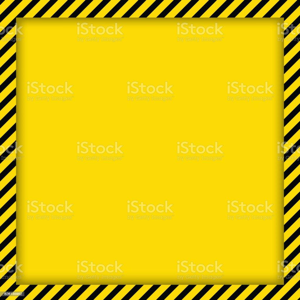 Warning template vector art illustration