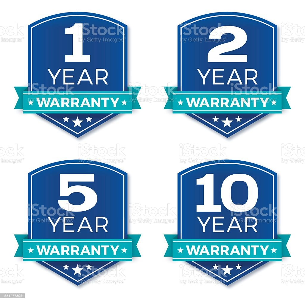 Warranty Badges vector art illustration