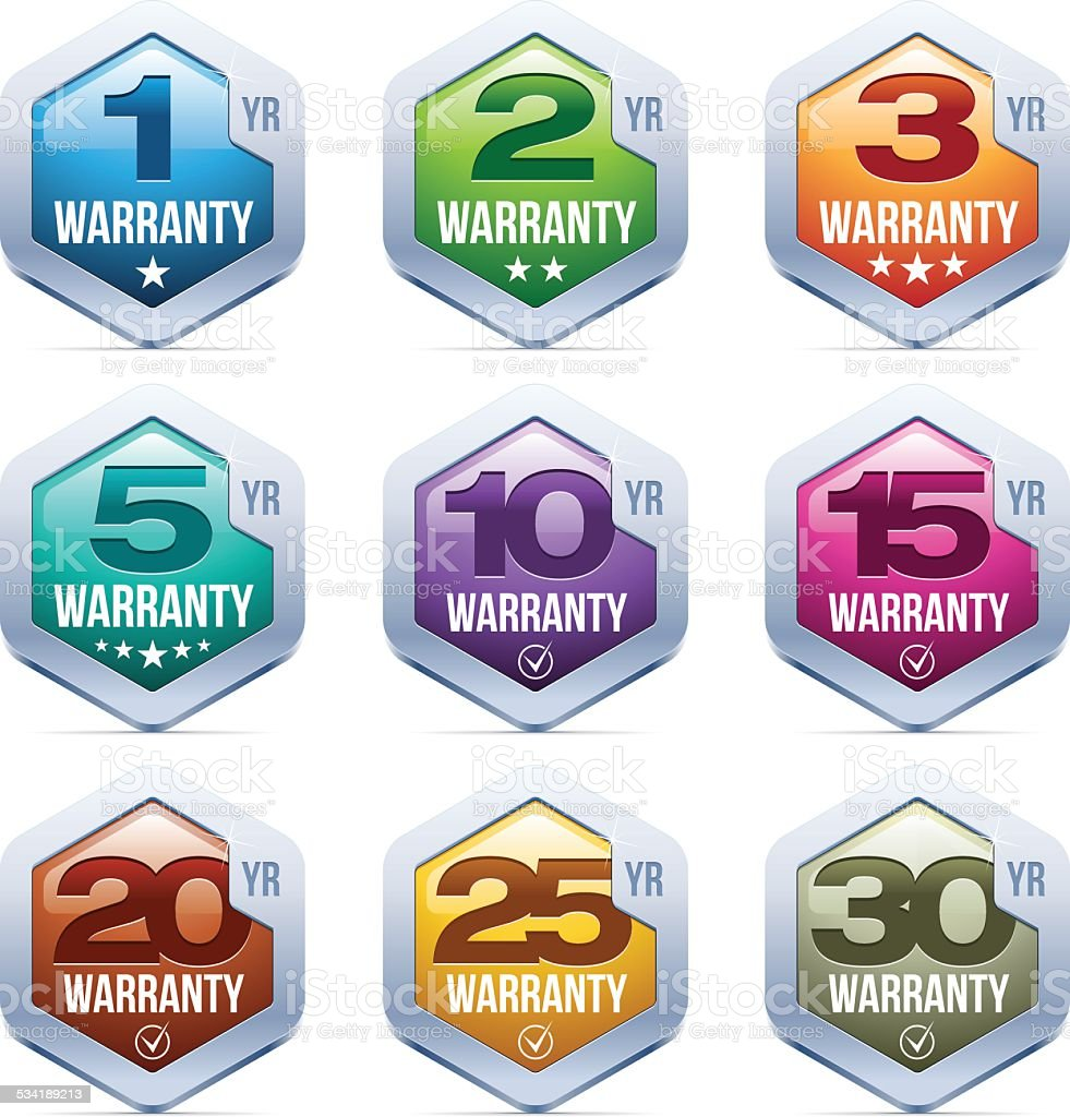 Warranty Seal vector art illustration