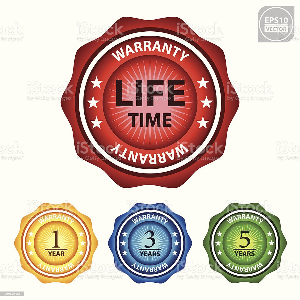 Warranty sticker or sign. royalty-free stock vector art