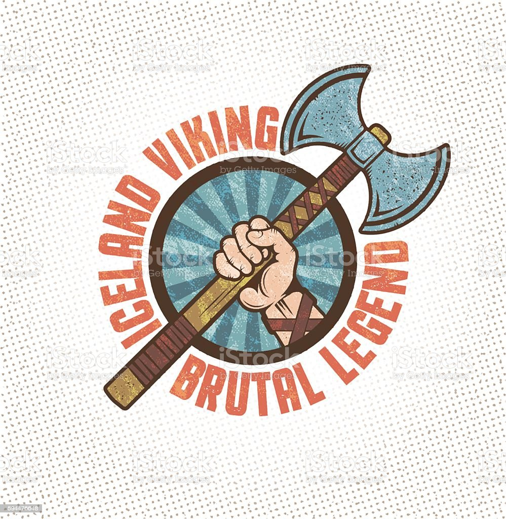 warrior hand vector art illustration