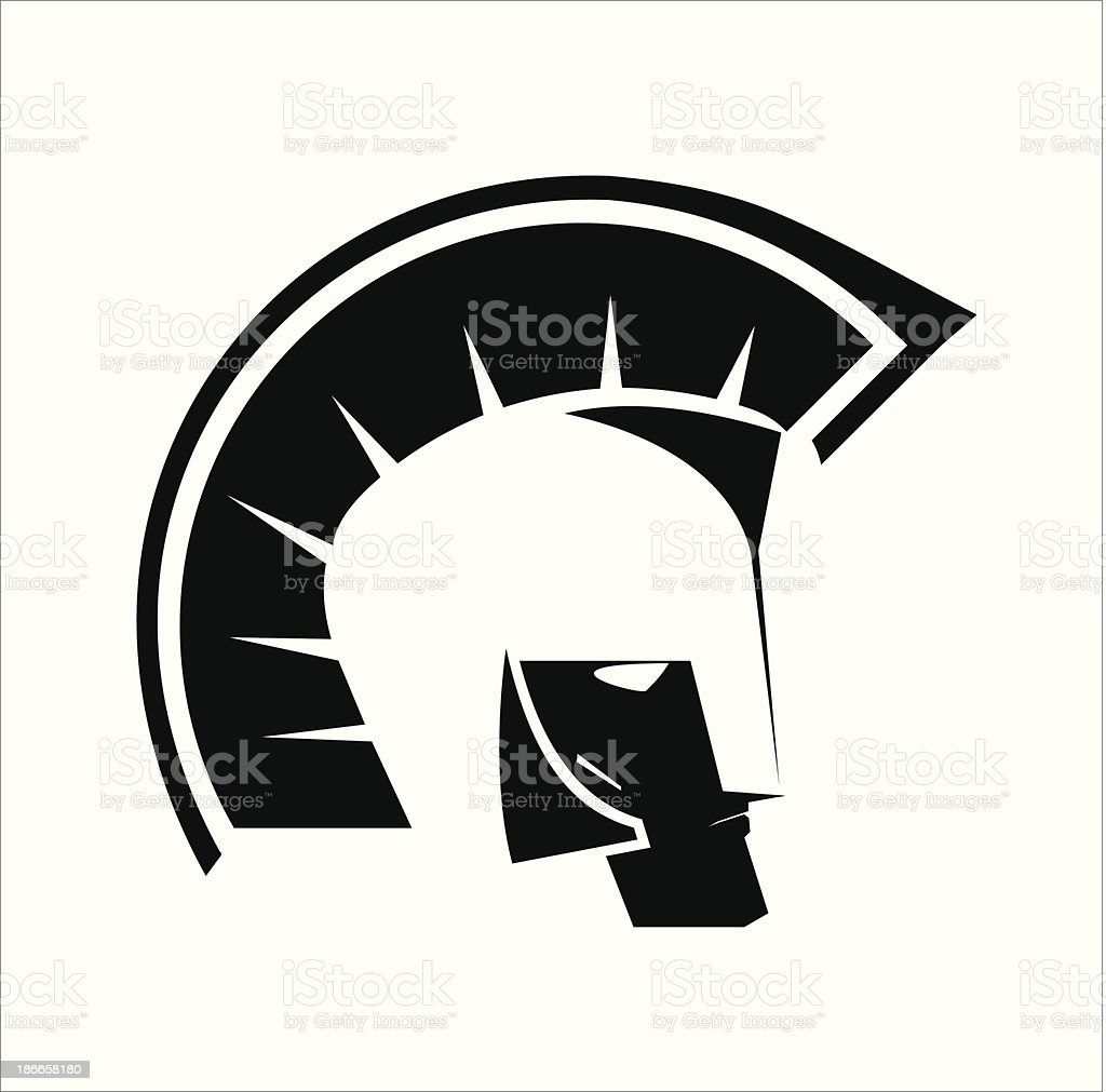 warrior head royalty-free stock vector art