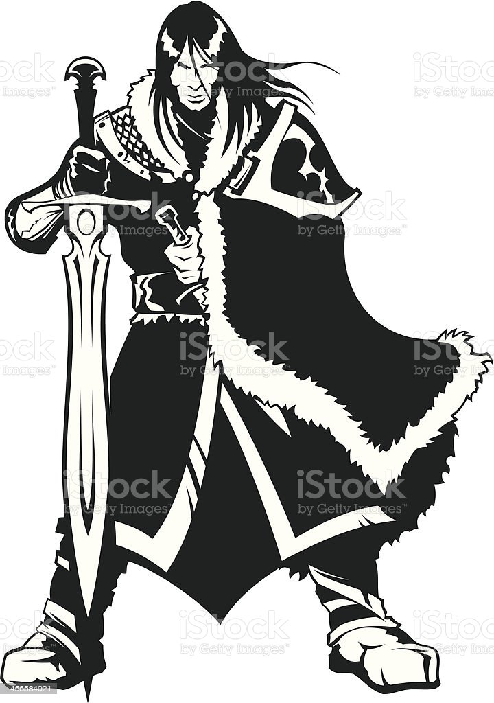 Warrior of North royalty-free stock vector art